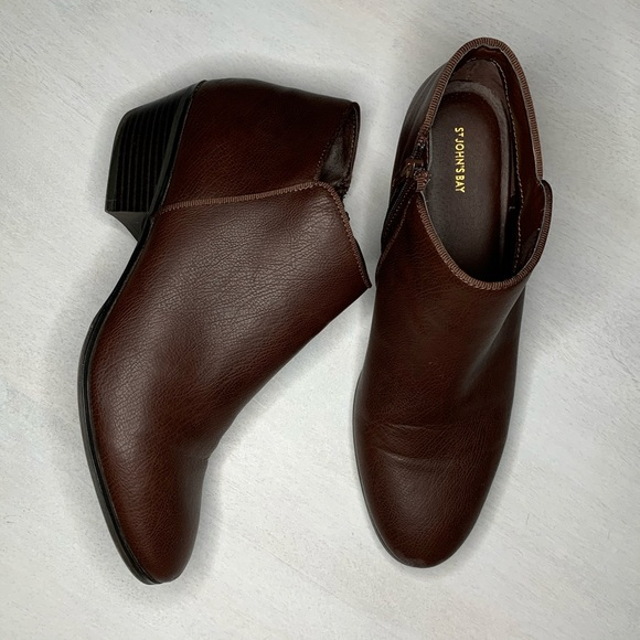 St. John's Bay Shoes - St. John's Bay brown ankle booties